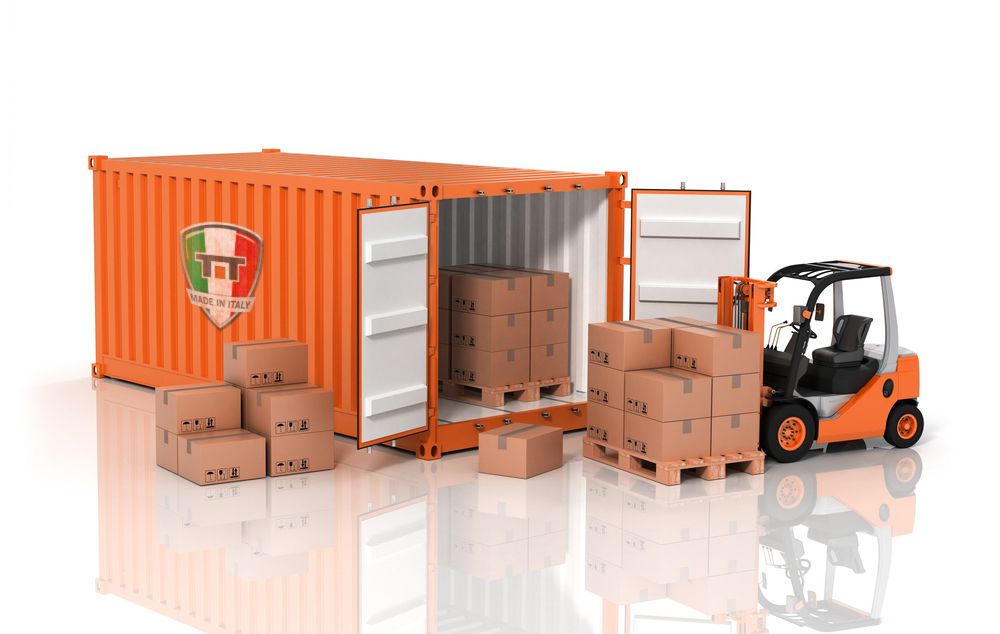 Application for loading container and truck